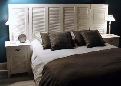 Meubles bois cylindriques - Tête de lit