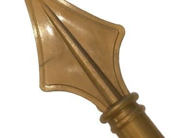 Lance en bronze fabriquée à partir de bâtons ronds, Bwood.17