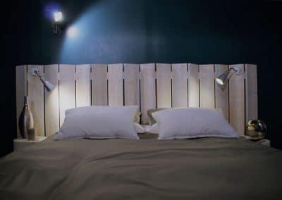 Tete de lit en bois - lacanau
